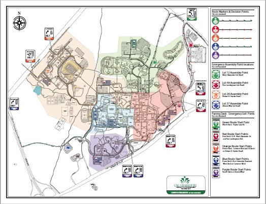 Campus evacuation map